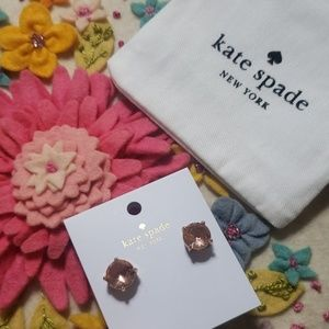 《Kate Spade》NEW Rose Gold Shine On Studs Gold